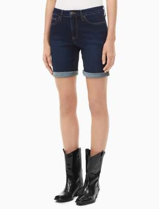 Calvin Klein dark wash denim city shorts