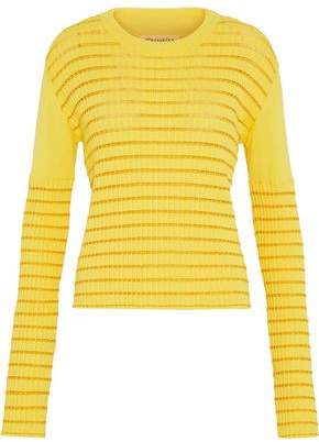 Maison Margiela Ribbed-Knit Cotton-Blend Sweater