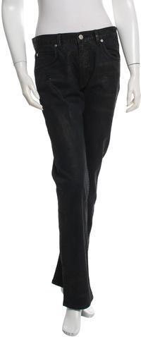 Helmut LangHelmut Lang Waxed Straight-Leg Jeans