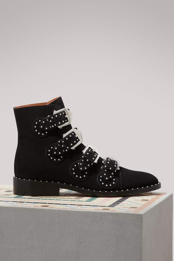 Givenchy Elegant Studs suede leather boots