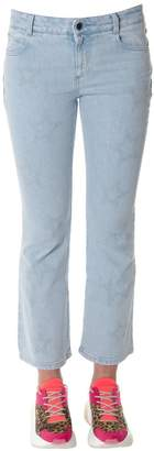 Stella McCartney Sky Cotton Denim With Star Prints