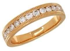 Lord & Taylor 14K Yellow Gold Milgrain Edge Ring