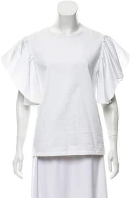Co Ruffle Short Sleeve Top w/ Tags