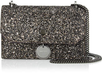 Jimmy Choo FINLEY Bronze Mix Midnight Coarse Glitter Fabric Cross Body Mini Bag