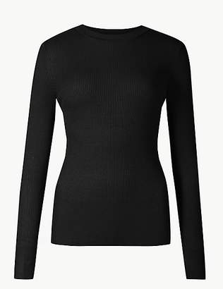 M&S Collection Ribbed Round Neck Jumper