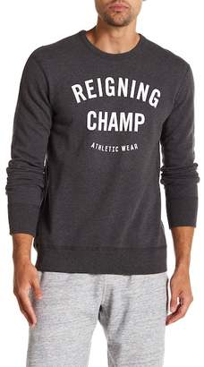 Reigning Champ Gym Logo Crew Neck Pullover