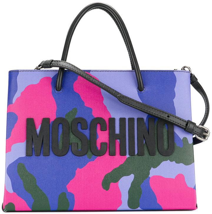 Moschino camouflage logo cross-body bag