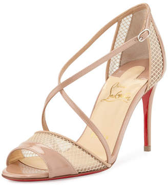Christian Louboutin Slikova Strappy Red Sole Sandal, Nude