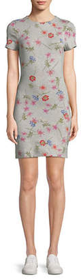 French Connection Floral-Print Bodycon Dress