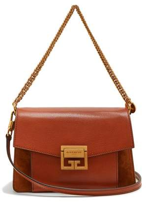 Givenchy Gv3 Small Suede And Leather Cross Body Bag - Womens - Tan