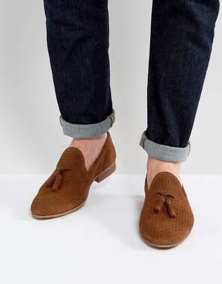 WALK LONDON Walk London Harry Suede Tassel Loafers In Tan