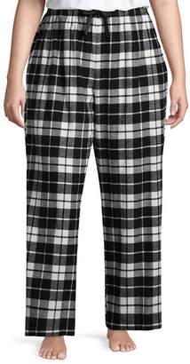 SLEEP CHIC Sleep Chic Flannel Pajama Pants-Tall