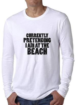 Hollywood Thread Currently Pretending I Am At The Beach - Vacation Love Men's Long Sleeve T-Shirt