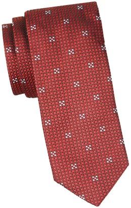 HUGO Geometric Skinny Silk Tie