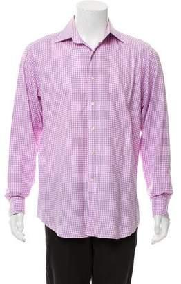 Etro Gingham Plaid Button-Up Shirt