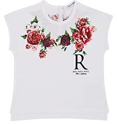 Dolce & Gabbana Infants' Rose-Print Cotton T-Shirt-White