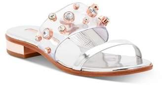 Sophia Webster Women's Dina Gem Low-Heel Slide Sandals