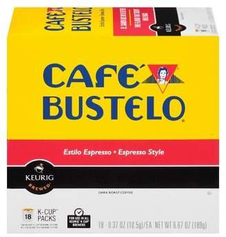 Keurig Cafe Bustelo Espresso Dark Roast Coffee K-Cup Pods - 18ct