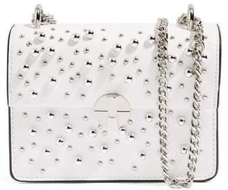 Topshop Betty Ball Stud Faux Leather Crossbody Bag