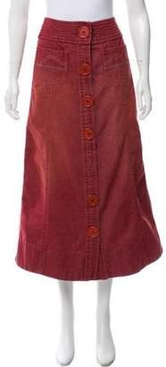 Marc Jacobs Denim Midi Skirt
