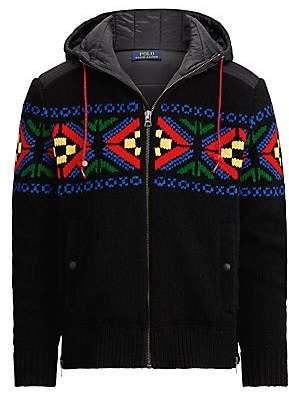 Polo Ralph Lauren Men's Fair Isle Hooded Zip-Up Sweater