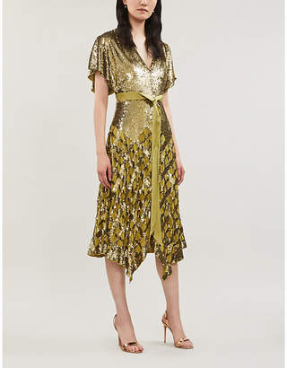 Temperley London Akiko A-line sequinned midi dress