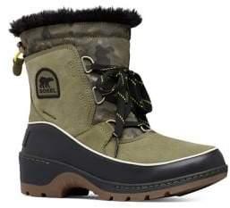 Sorel Tivoli III Camo Waterproof Suede Faux-Fur Winter Boots
