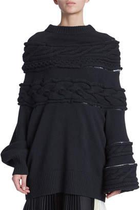 Sacai Cable-Knit Chunky Sweater