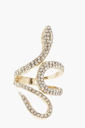 boohoo Diamante Statement Ring