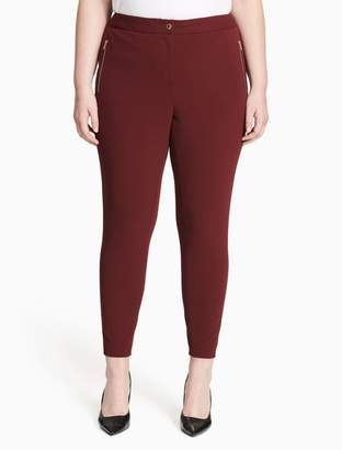 Calvin Klein plus size scuba cropped pants