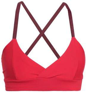 Live The Process Wrap-effect Stretch Sports Bra