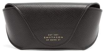 Smythson Panama Leather Sunglasses Case - Mens - Black