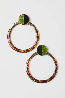 H&M Large Round Earrings - Green