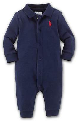 Ralph Lauren Boys' Interlock Solid Coverall - Baby