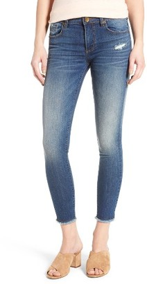 Women's Kut From The Kloth Connie Frayed Hem Ankle Skinny Jeans $89 thestylecure.com