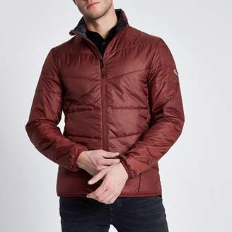 River Island Only and Sons dark red puffer jacket