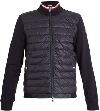 Moncler Quilted down and cotton-jersey jacket