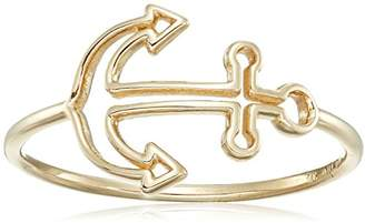 14k Italian Nautical Anchor Ring