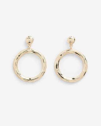 Express Hammered Circle Hoop Earrings