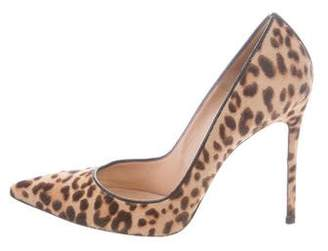 Gianvito Rossi Pointed-Toe Ponyhair Pumps