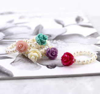 Mother of Pearl Lucy Loves Neko Stacking Rose Ring