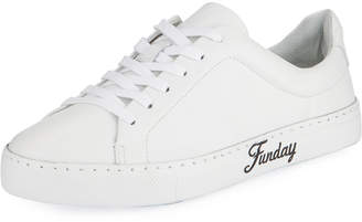 Schutz Sunday Fun Day Leather Sneakers