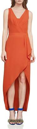 BCBGMAXAZRIA Tobyn Asymmetric Faux-Wrap Dress