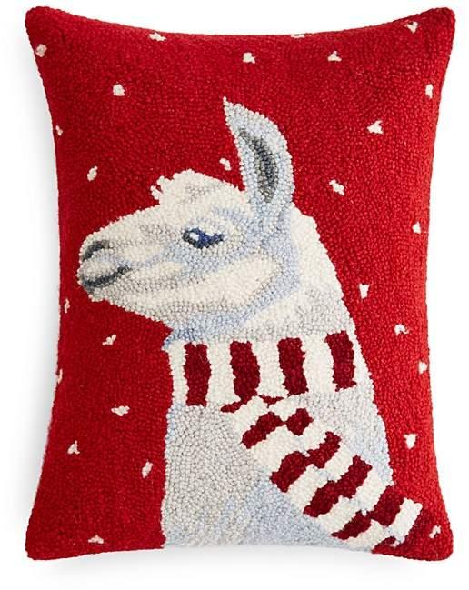 Peking Handicraft Llama with Scarf Decorative Pillow, 14
