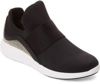Donna Karan Black & Nickel Cory Slip On Sneakers
