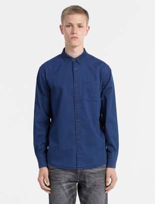 Calvin Klein chambray long sleeve shirt