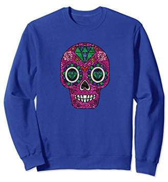 Dia De Los Muertos Shirt Halloween Sugar Skull Sweatshirt