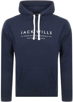Jack Wills Batsford Popover Hoodie Navy