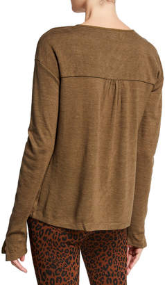 Sanctuary Sienna Sheer Knit Long-Sleeve Top