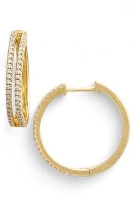 Women's Bony Levy Diamond Split Hoop Earrings (Limited Edition) (Nordstrom Exclusive) $2,995 thestylecure.com